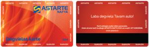Astarte-Nafta, Degvielas karte juriskām personām