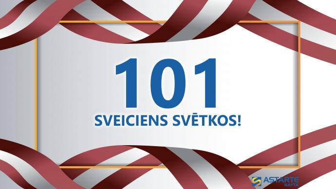 101 sveiciens Latvijai dzimšanas dienā