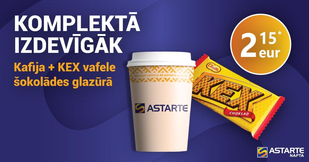 Kafija ar KEX vafeli šokolādēs glazūrā