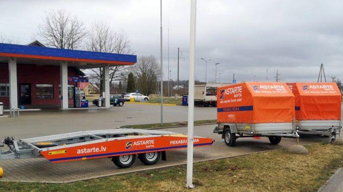 Прокат авто прицепов в АЗС Koknese