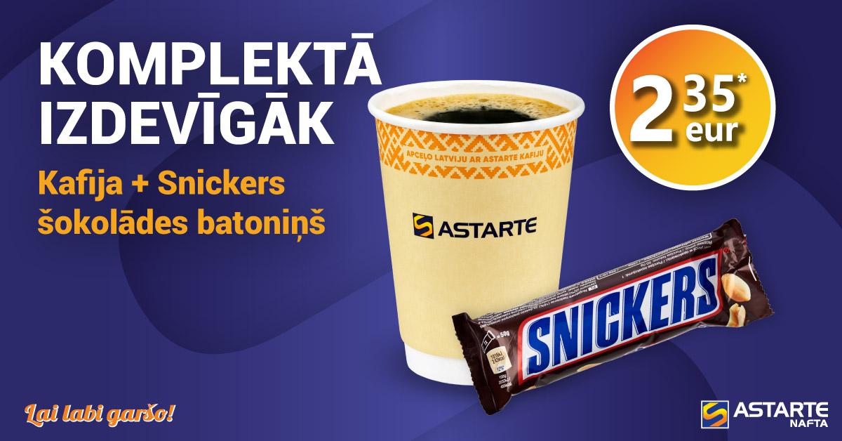 Kafija ar Snickers šokolādes batoniņu