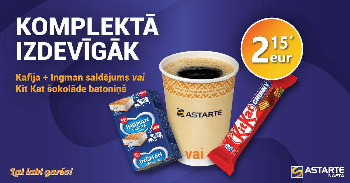 Kafija ar saldējumu vai šokolādi