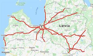 Autoceļu lietošanas nodevas karte. Vinjetes