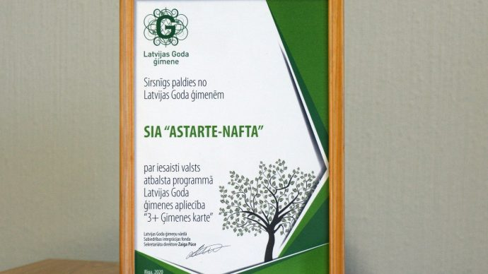 Pateicība no Latvijas Goda ģimenēm