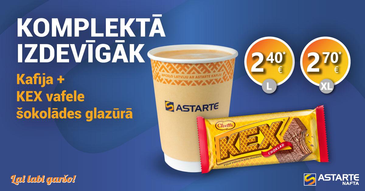 Kafija ar KEX vafeli šokolādes glazūrā